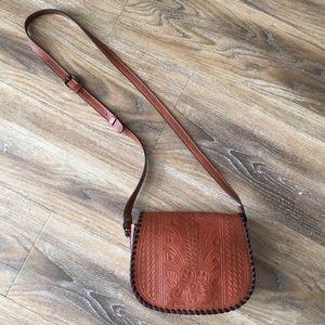 Patricia Nash Salerno Saddle Bag Italian Leather